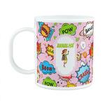 Woman Superhero Plastic Kids Mug (Personalized)