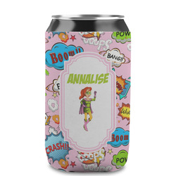 Woman Superhero Can Sleeve (12 oz) (Personalized)