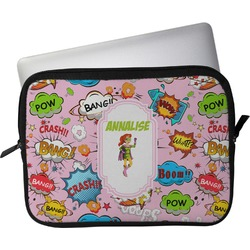 "Woman Superhero Laptop Sleeve / Case - 13"" (Personalized)"