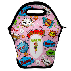 Woman Superhero Lunch Bag w/ Name or Text