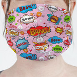 Woman Superhero Face Mask Cover (Personalized)
