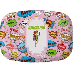 Woman Superhero Melamine Platter (Personalized)