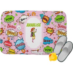 Woman Superhero Memory Foam Bath Mat (Personalized)