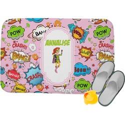Woman Superhero Memory Foam Bath Mat (Personalized)