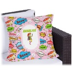 Woman Superhero Outdoor Pillow (Personalized)