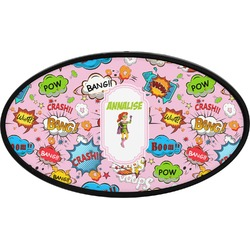 Woman Superhero Oval Trailer Hitch Cover (Personalized)