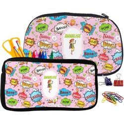 Woman Superhero Pencil / School Supplies Bag (Personalized)