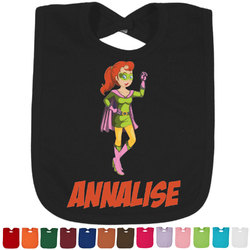 Woman Superhero Bib - Select Color (Personalized)