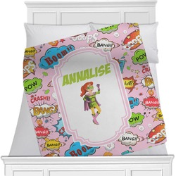 Woman Superhero Blanket (Personalized)