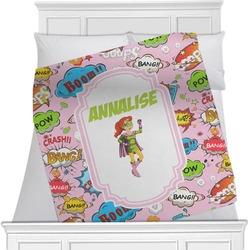 Woman Superhero Minky Blanket (Personalized)