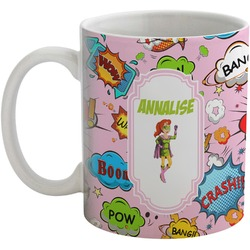 Woman Superhero Coffee Mug (Personalized)