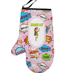 Woman Superhero Left Oven Mitt (Personalized)
