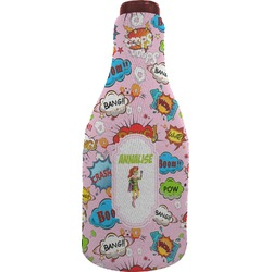 Woman Superhero Wine Sleeve (Personalized)