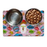 Woman Superhero Dog Food Mat (Personalized)