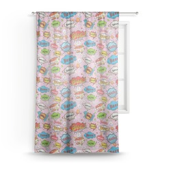 "Woman Superhero Sheer Curtain - 50""x84"" (Personalized)"
