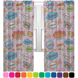 Woman Superhero Sheer Curtains (Personalized)