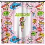 Woman Superhero Shower Curtain (Personalized)