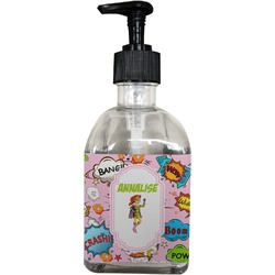 Woman Superhero Soap/Lotion Dispenser (Glass) (Personalized)