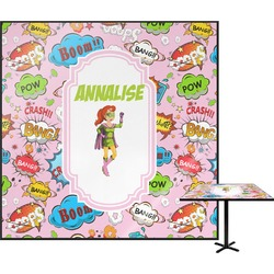 Woman Superhero Square Table Top (Personalized)
