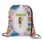 Woman Superhero Drawstring Backpack (Personalized)