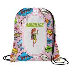 Woman Superhero Drawstring Backpack (Personalized)
