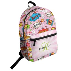 Woman Superhero Student Backpack (Personalized)