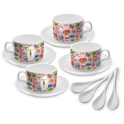 Woman Superhero Tea Cup - Set of 4 (Personalized)
