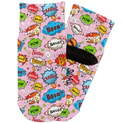 Woman Superhero Toddler Ankle Socks (Personalized)