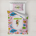 Woman Superhero Toddler Bedding w/ Name or Text