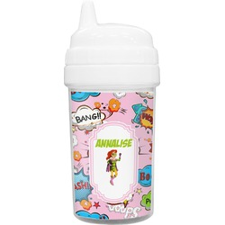 Woman Superhero Sippy Cup (Personalized)