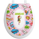 Woman Superhero Toilet Seat Decal (Personalized)