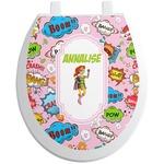 Woman Superhero Toilet Seat Decal (Personalized)