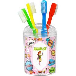 Woman Superhero Toothbrush Holder (Personalized)