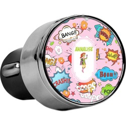 Woman Superhero USB Car Charger (Personalized)