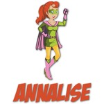 Woman Superhero Graphic Decal - Custom Sizes (Personalized)