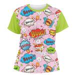 Woman Superhero Women's Crew T-Shirt (Personalized)