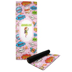 Woman Superhero Yoga Mat (Personalized)