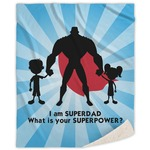 Super Dad Sherpa Throw Blanket