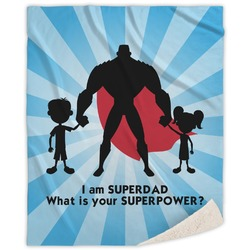 Super Dad Sherpa Throw Blanket