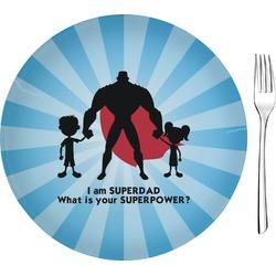 """Super Dad 8"""" Glass Appetizer / Dessert Plates - Single or Set"""
