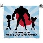 Super Dad Full Print Bath Towel