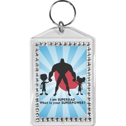Super Dad Bling Keychain
