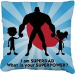 Super Dad Faux-Linen Throw Pillow