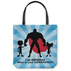 "Super Dad Canvas Tote Bag - Large - 18""x18"""