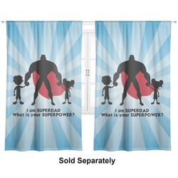 "Super Dad Curtains - 20""x84"" Panels - Lined (2 Panels Per Set)"