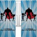 Super Dad Curtains (2 Panels Per Set)