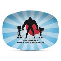 Super Dad Plastic Platter - Microwave & Oven Safe Composite Polymer