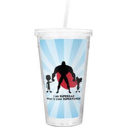 Super Dad Double Wall Tumbler with Straw