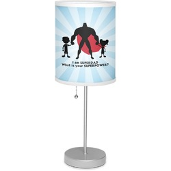 """Super Dad 7"""" Drum Lamp with Shade"""
