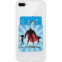 Super Dad Genuine Leather Adhesive Phone Wallet